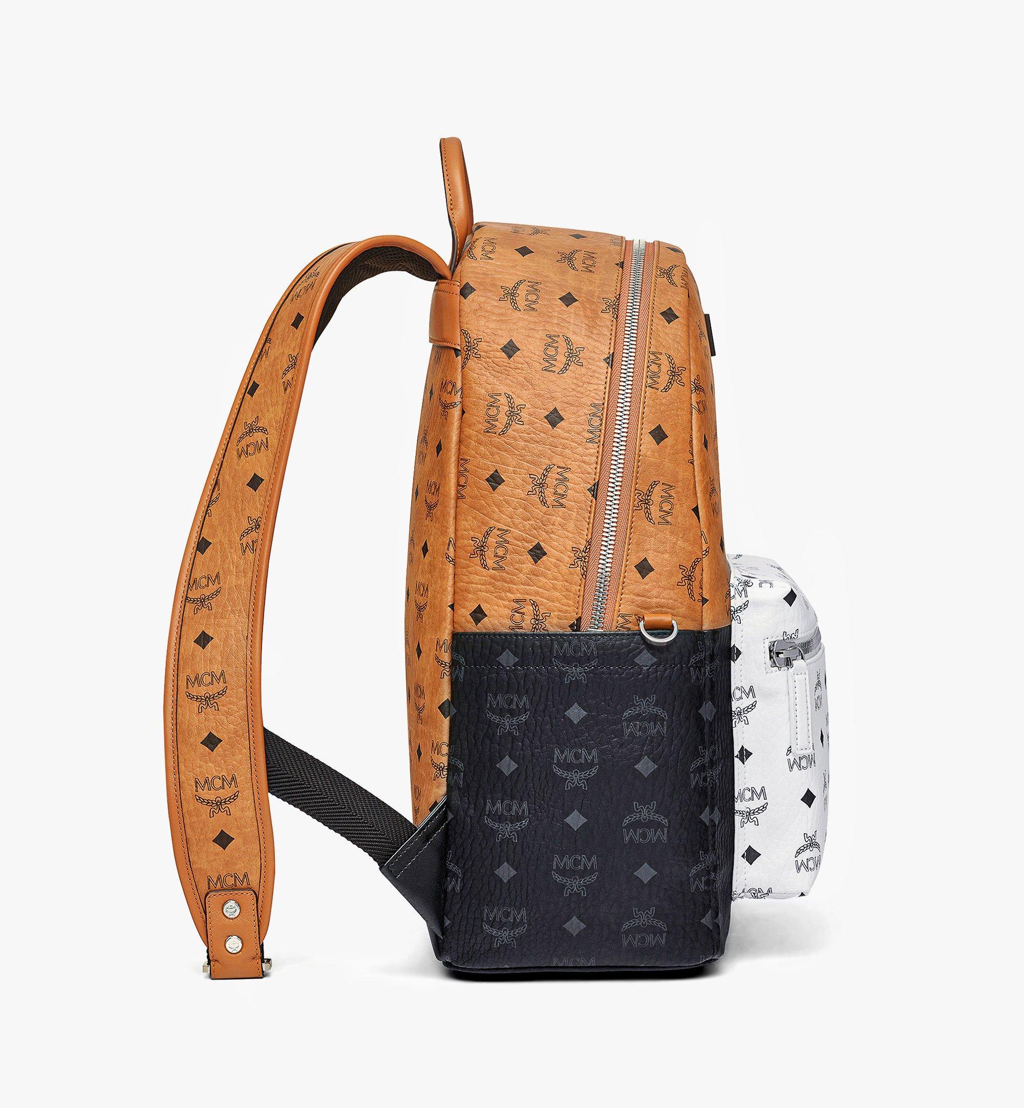 MCM กระเป๋าเป้สะพายหลัง Stark ลาย Visetos Mix Cognac MMKBSVE02CO001 มุมมองอื่น 1