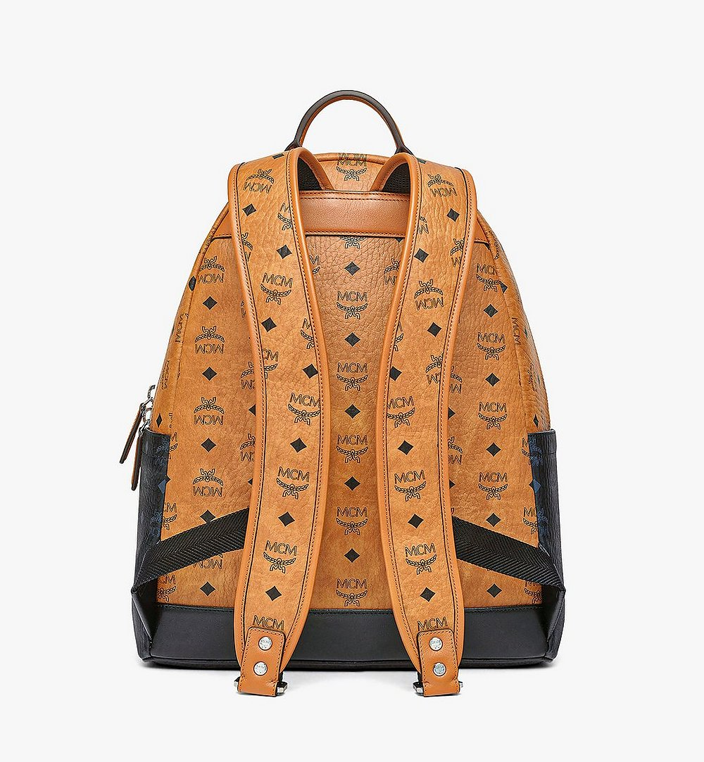 MCM Stark Backpack in Visetos Mix Cognac MMKBSVE02CO001 Alternate View 3