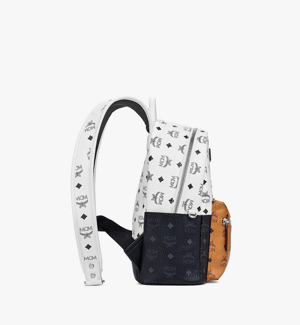 MCM Stark Backpack in Visetos Mix White MMKBSVE03WT001 Alternate View 1