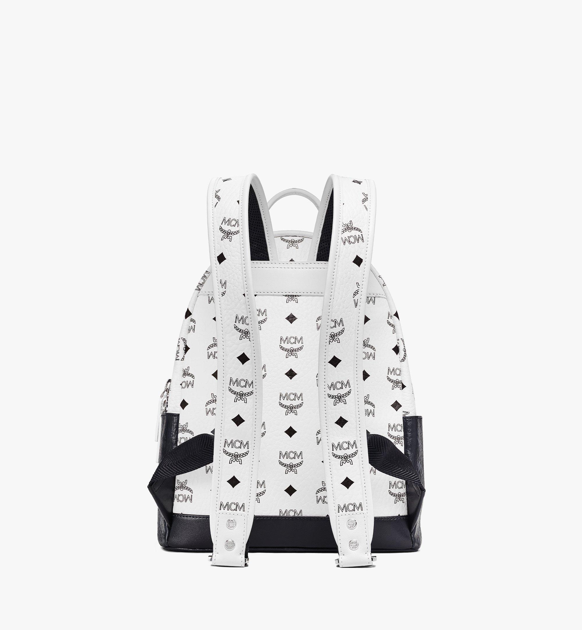 MCM Stark Backpack in Visetos Mix White MMKBSVE03WT001 Alternate View 3