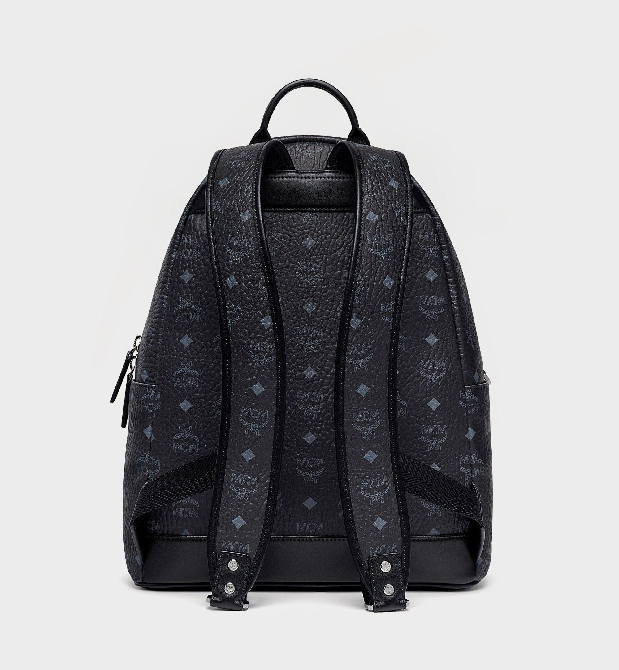 MCM Stark Backpack in Geo Graffiti Visetos Black MMKBSVE04BK001 Alternate View 3