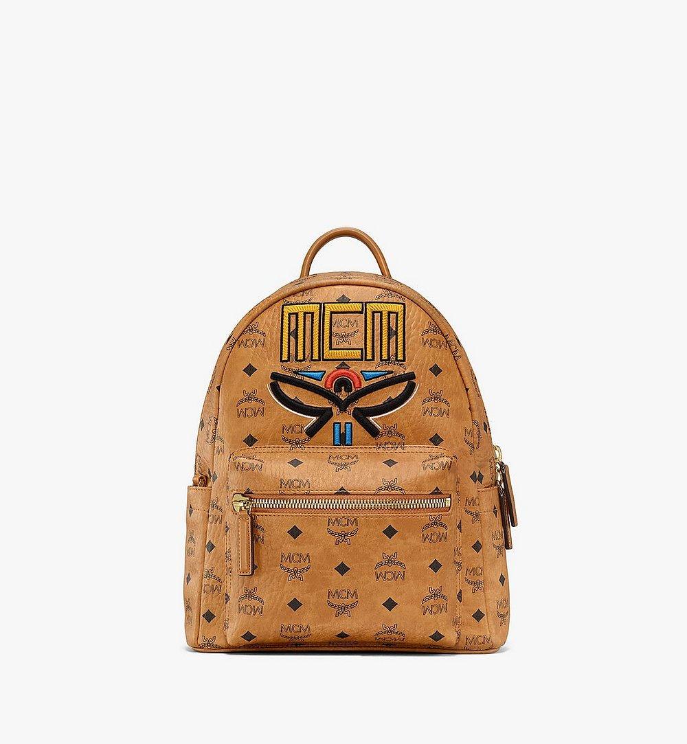 MCM Stark Backpack in Geo Laurel Visetos Cognac MMKBSVE06CO001 Alternate View 1