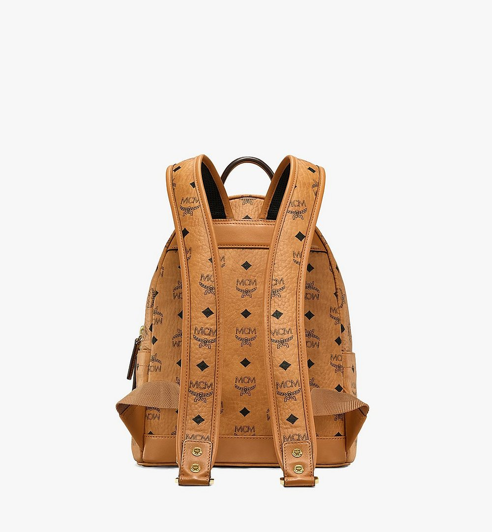 MCM Stark Backpack in Geo Laurel Visetos Cognac MMKBSVE06CO001 Alternate View 3