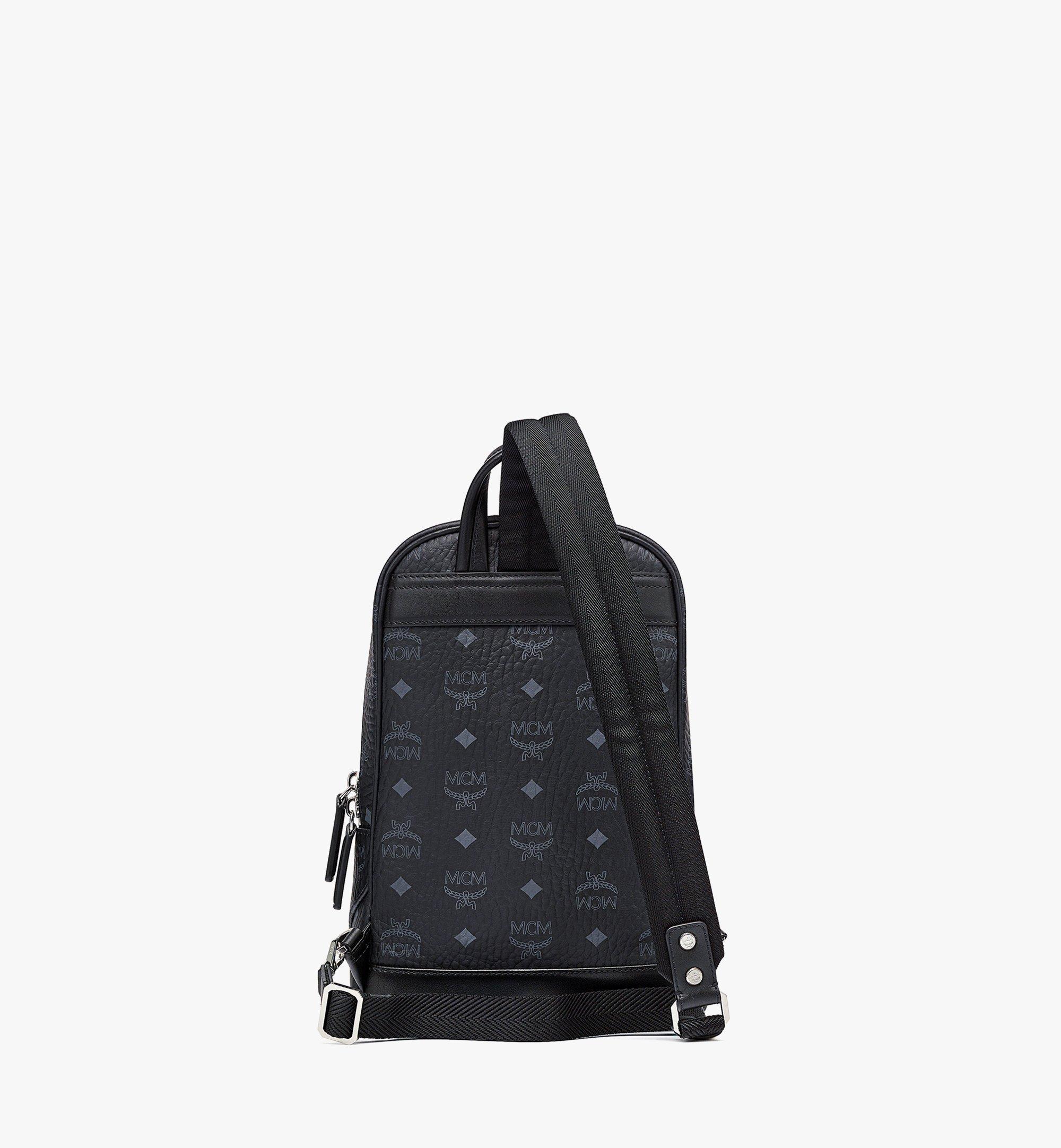 MCM Klassik Sling Bag in Visetos Black MMLBSKC01BK001 Alternate View 3