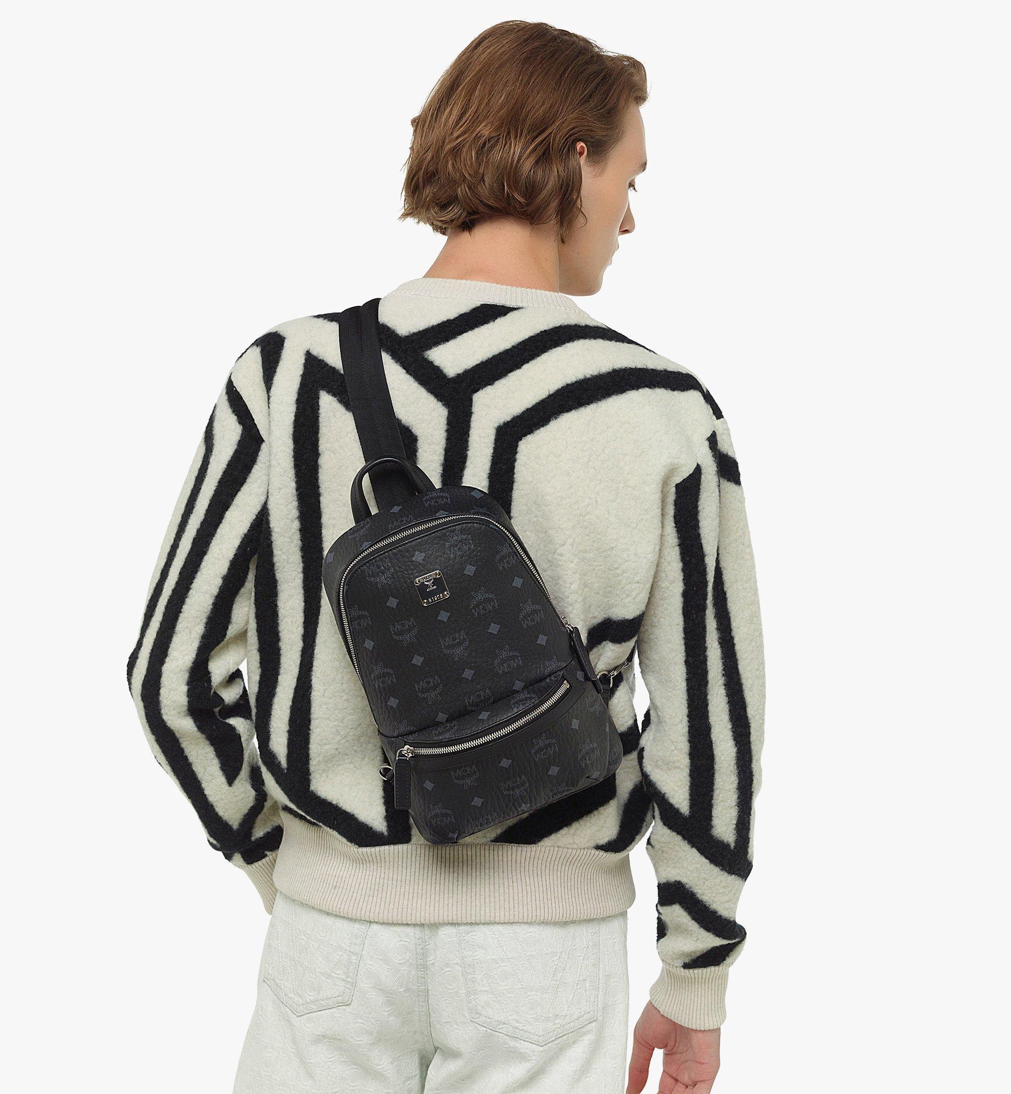 MCM Klassik Sling Bag in Visetos Black MMLBSKC01BK001 Alternate View 2