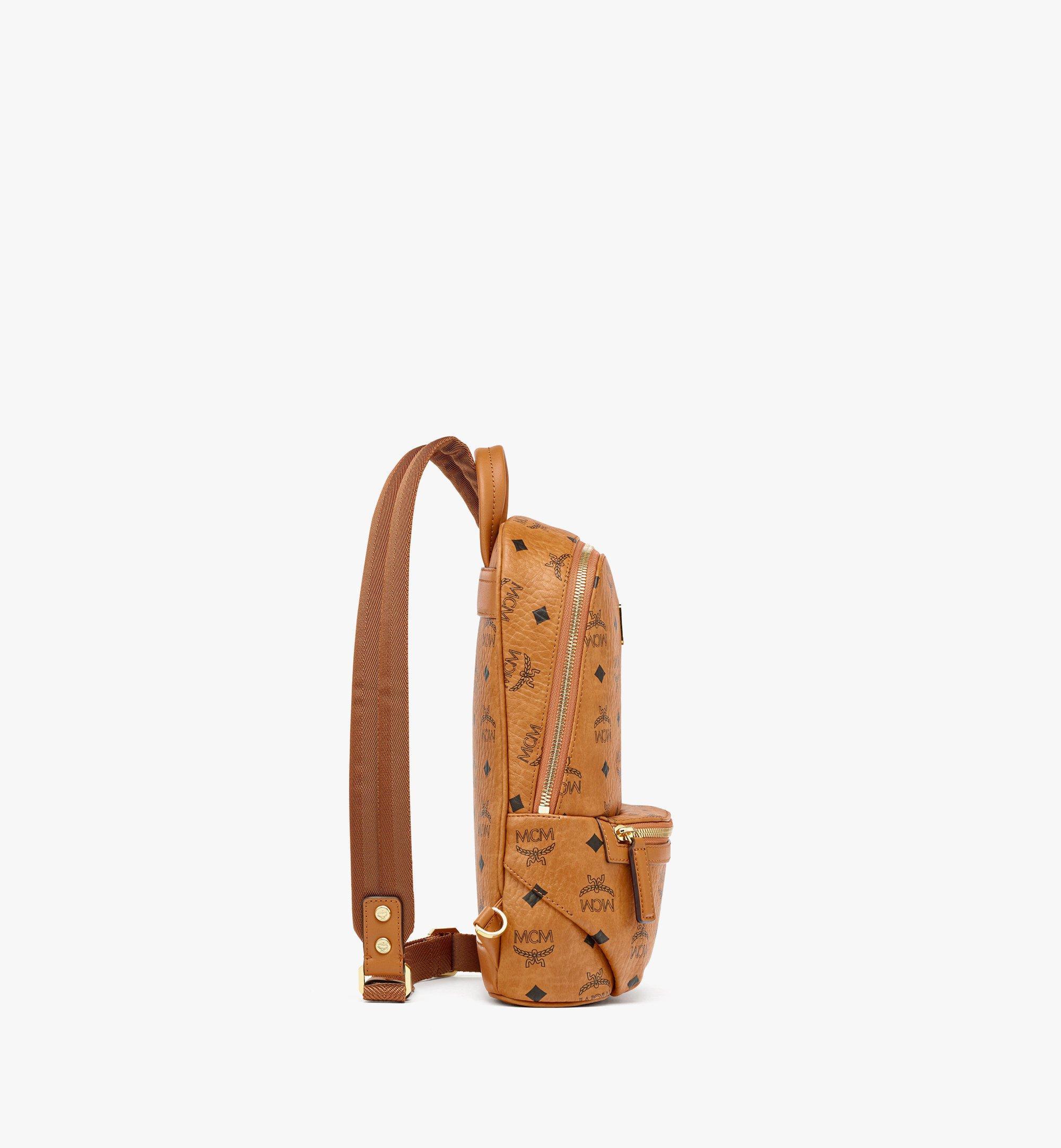 MCM Klassik Sling Bag in Visetos Cognac MMLBSKC01CO001 Alternate View 1