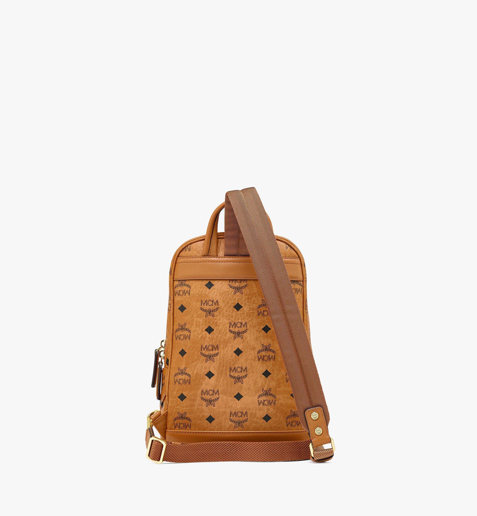 MCM Klassik Sling Bag in Visetos Cognac MMLBSKC01CO001 Alternate View 3