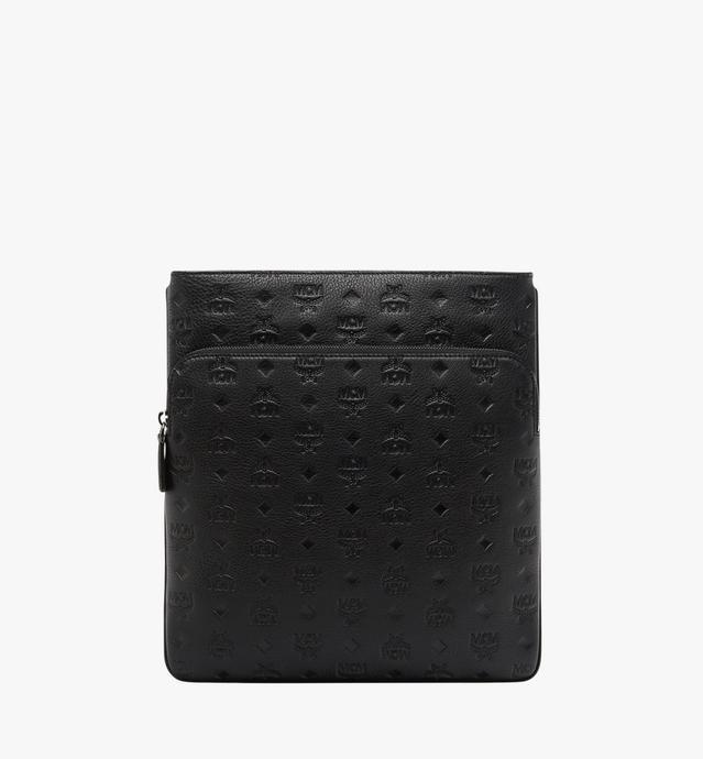 Flache Ottomar Messenger-Tasche aus Leder mit Monogramm