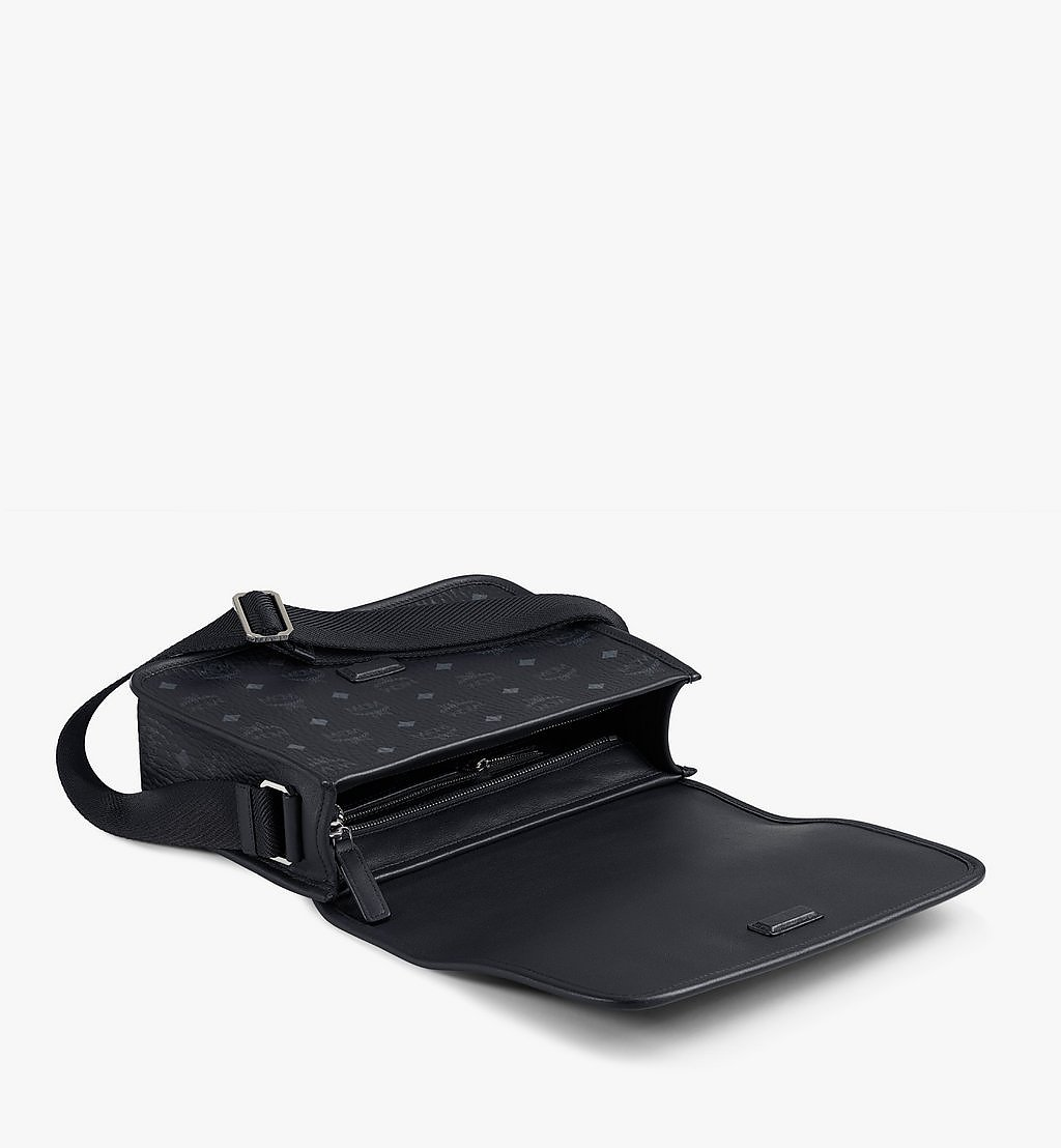 MCM Klassik Messenger Bag in Visetos Black MMMAAKC03BK001 Alternate View 2