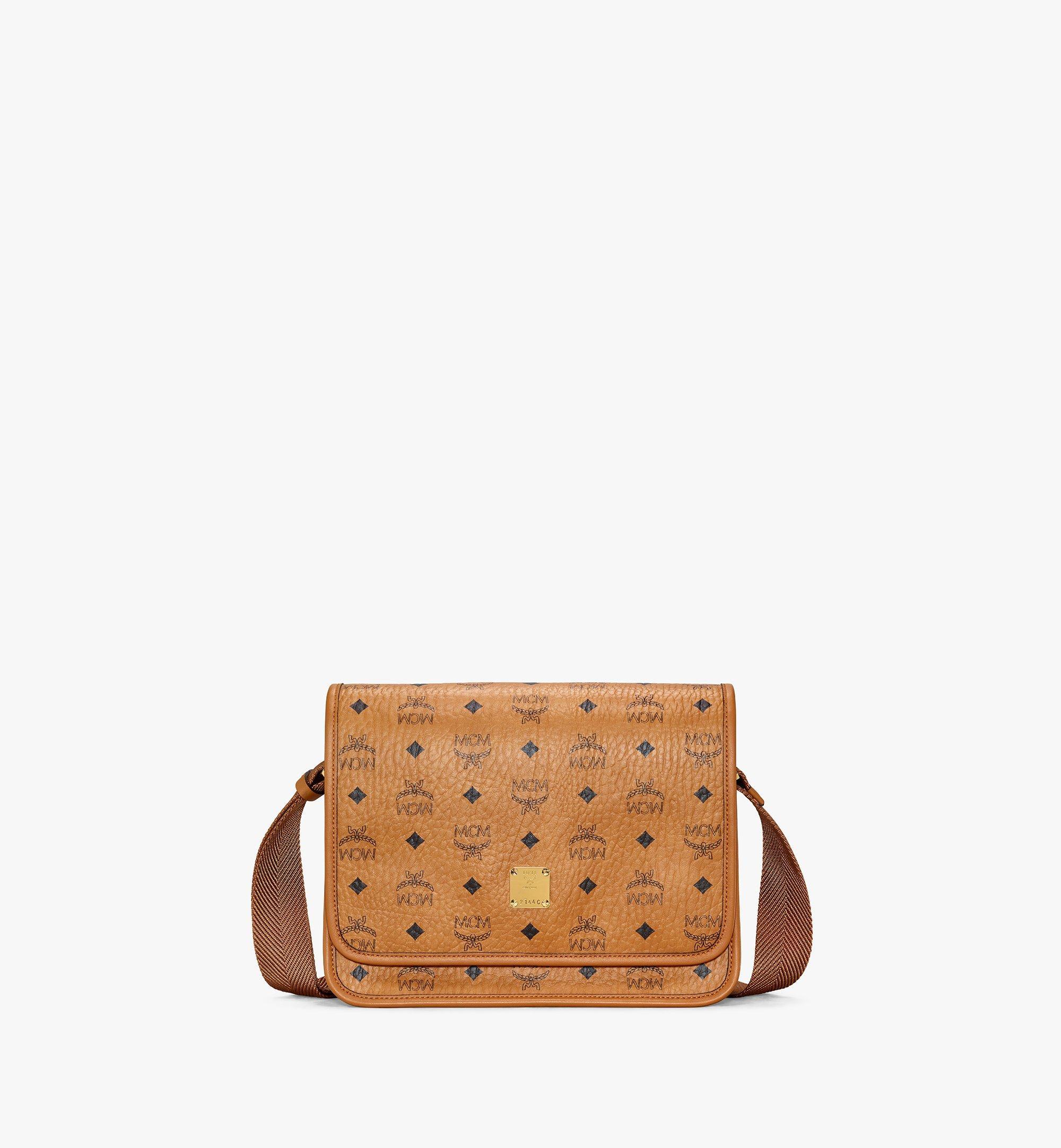 MCM Klassik Messenger Bag in Visetos Cognac MMMAAKC03CO001 Alternate View 1