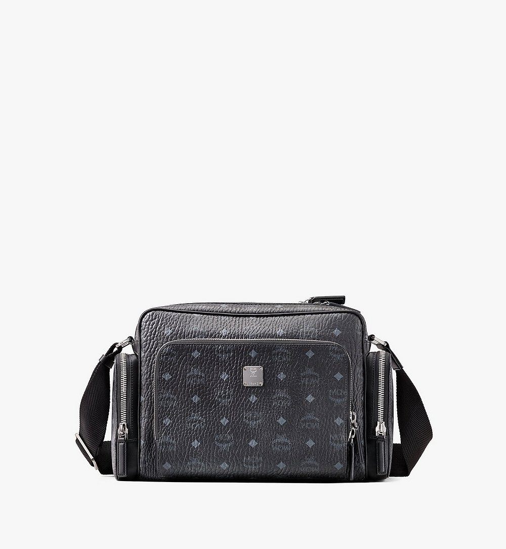 MCM Klassik Messenger in Visetos Black MMMASKC01BK001 Alternate View 1