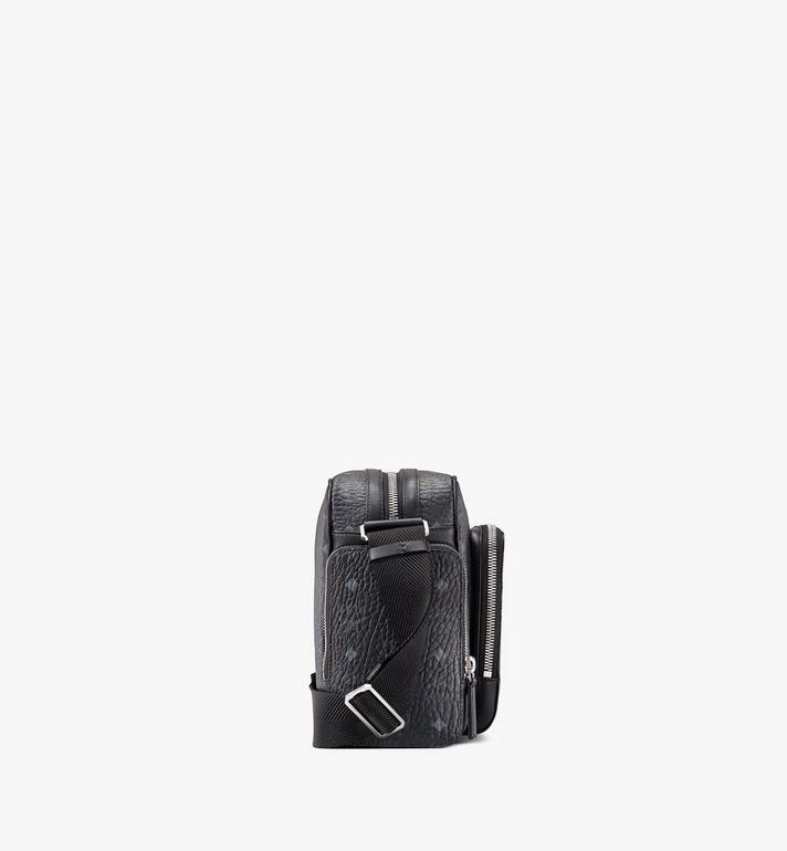 MCM Klassik Messenger in Visetos Black MMMASKC01BK001 Alternate View 2