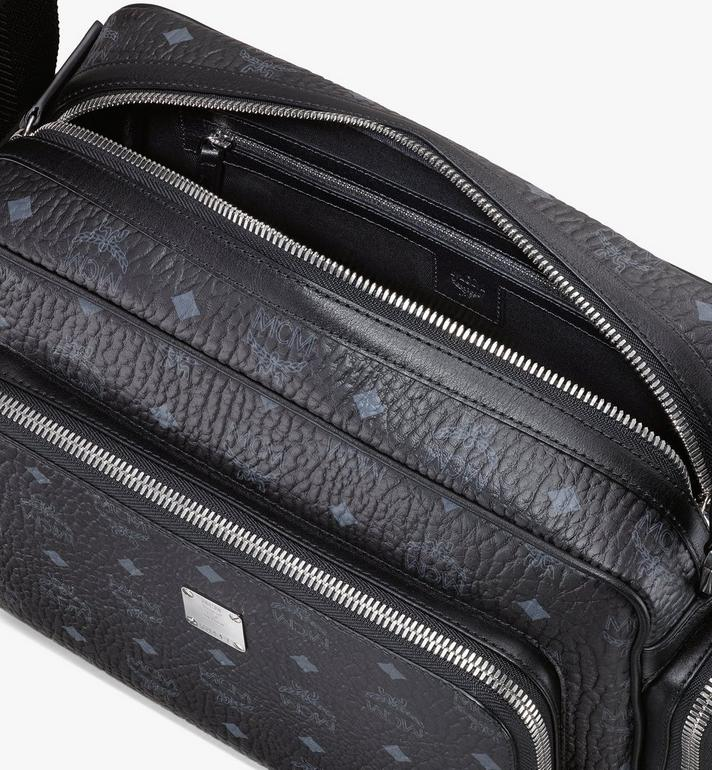 MCM Klassik Messenger in Visetos Black MMMASKC01BK001 Alternate View 4