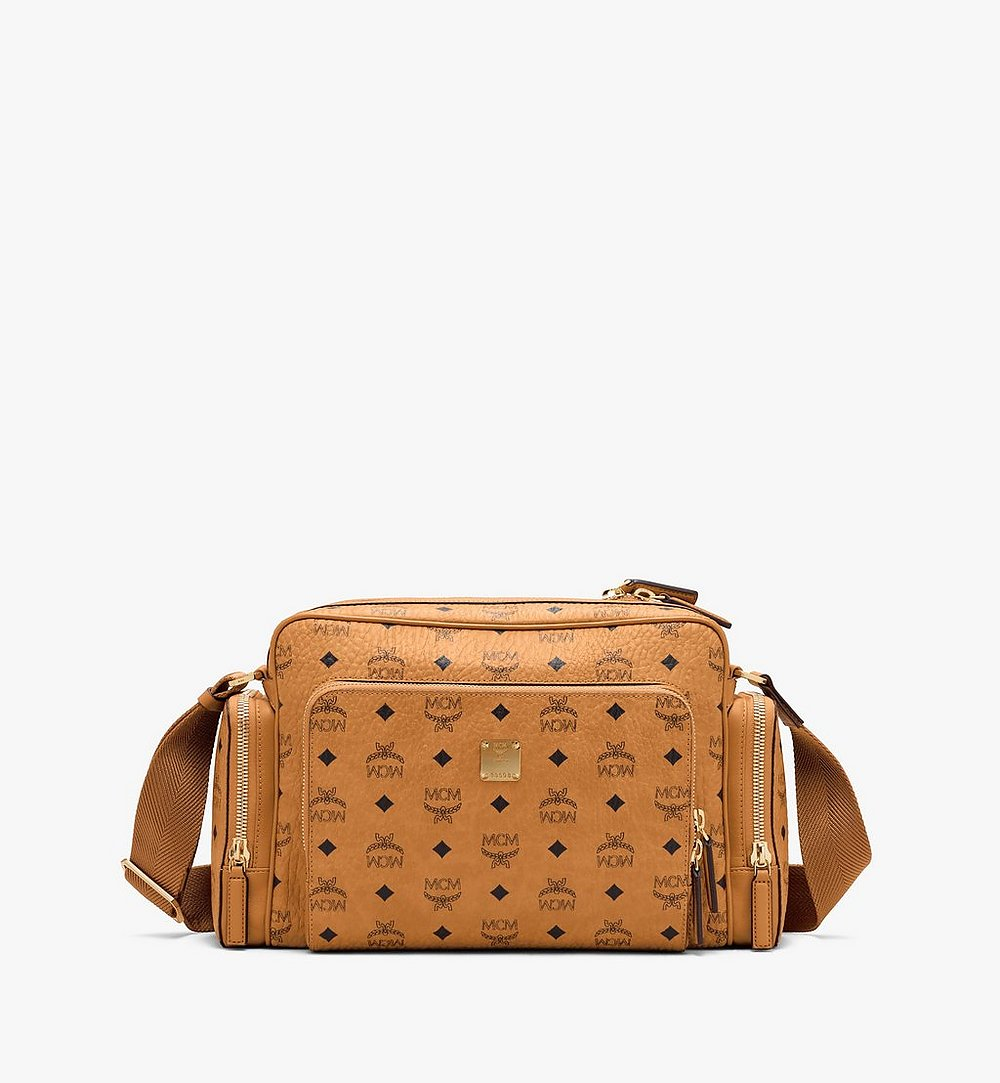 MCM Klassik Messenger in Visetos Cognac MMMASKC01CO001 Alternate View 1