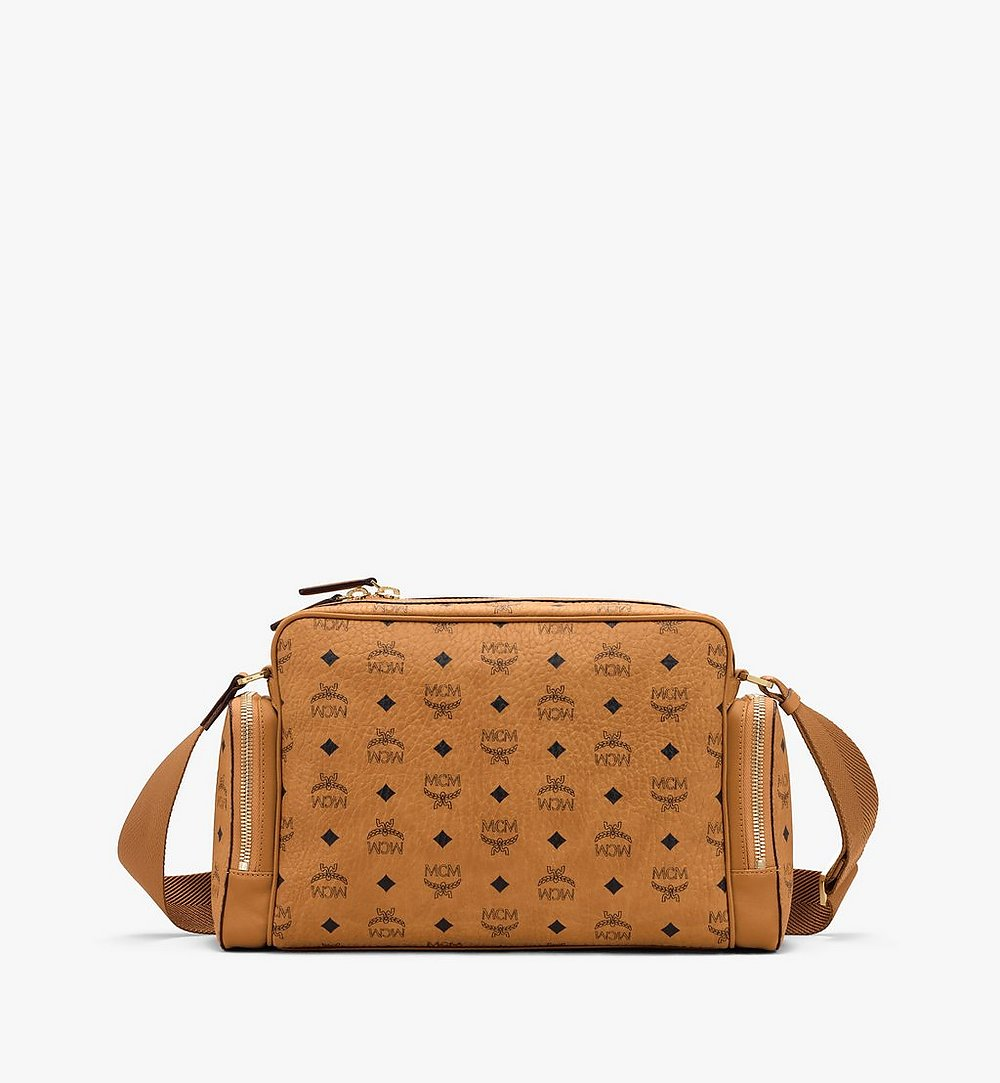 MCM Klassik Messenger in Visetos Cognac MMMASKC01CO001 Alternate View 2