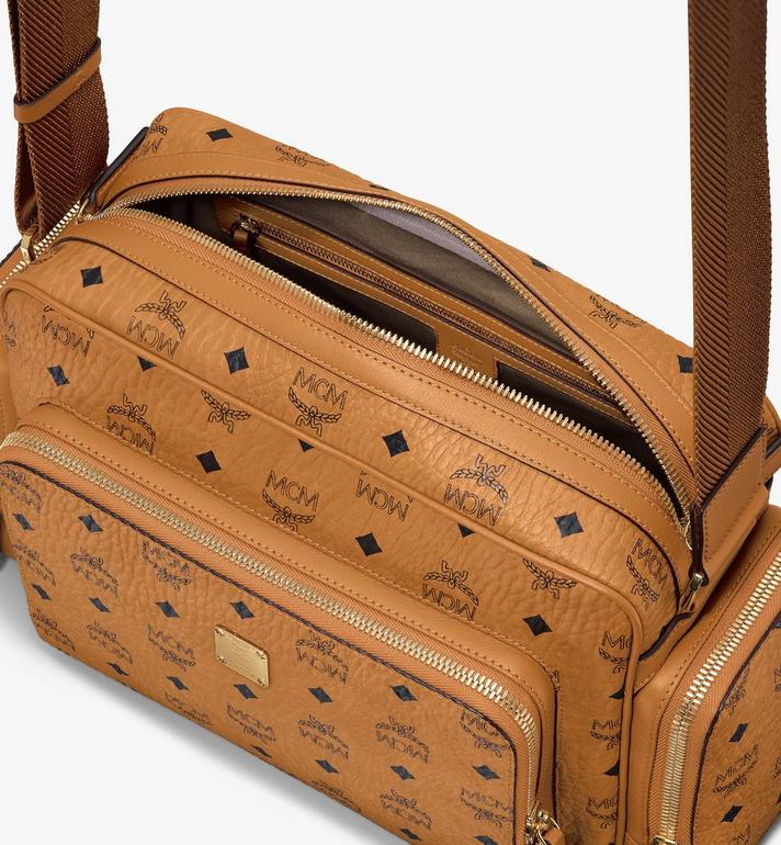 MCM Klassik Messenger in Visetos Cognac MMMASKC01CO001 Alternate View 4