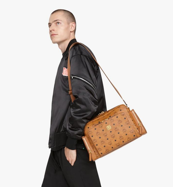 MCM Klassik Messenger in Visetos Cognac MMMASKC01CO001 Alternate View 5