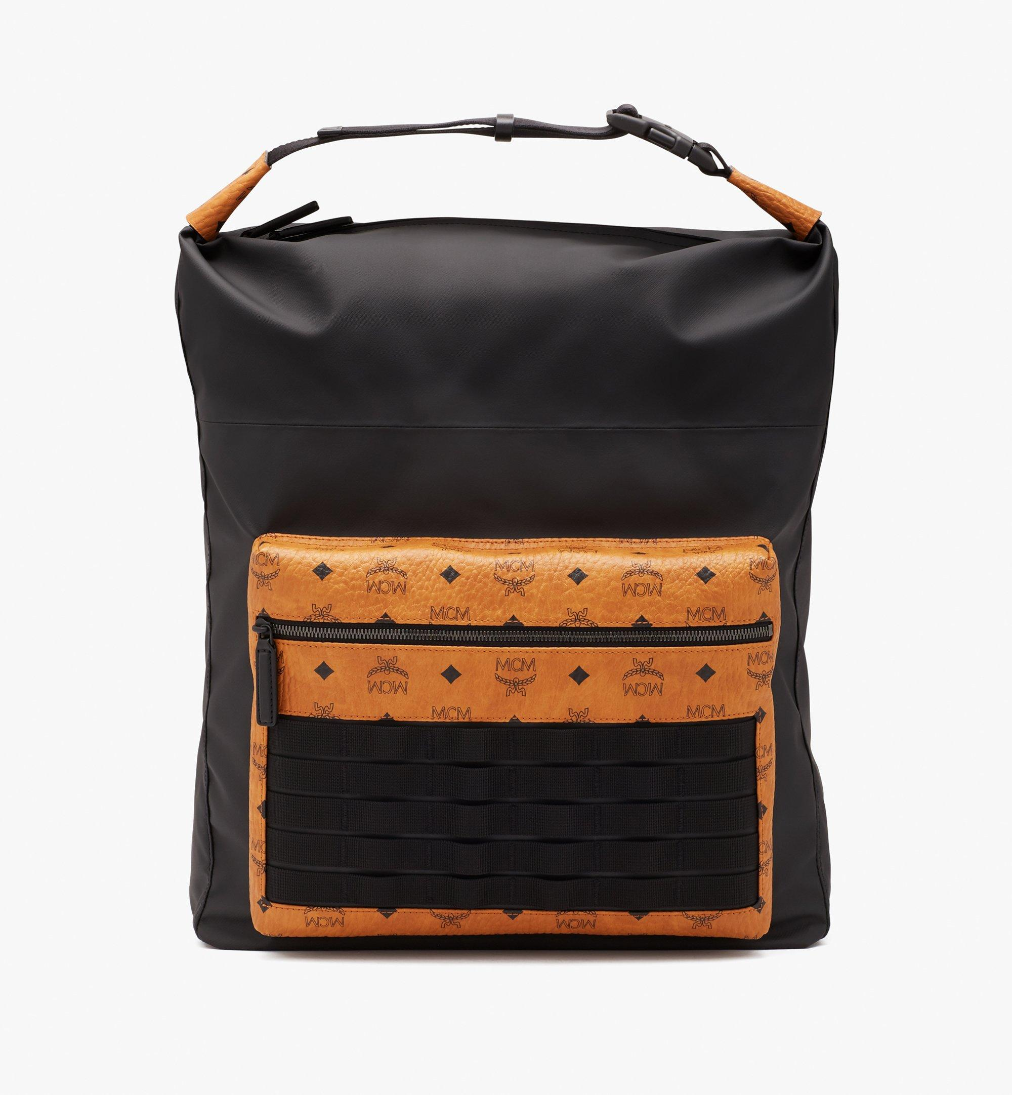 MCM 1976 Convertible Backpack in Nylon Black MMPASMV01BK001 Alternate View 1