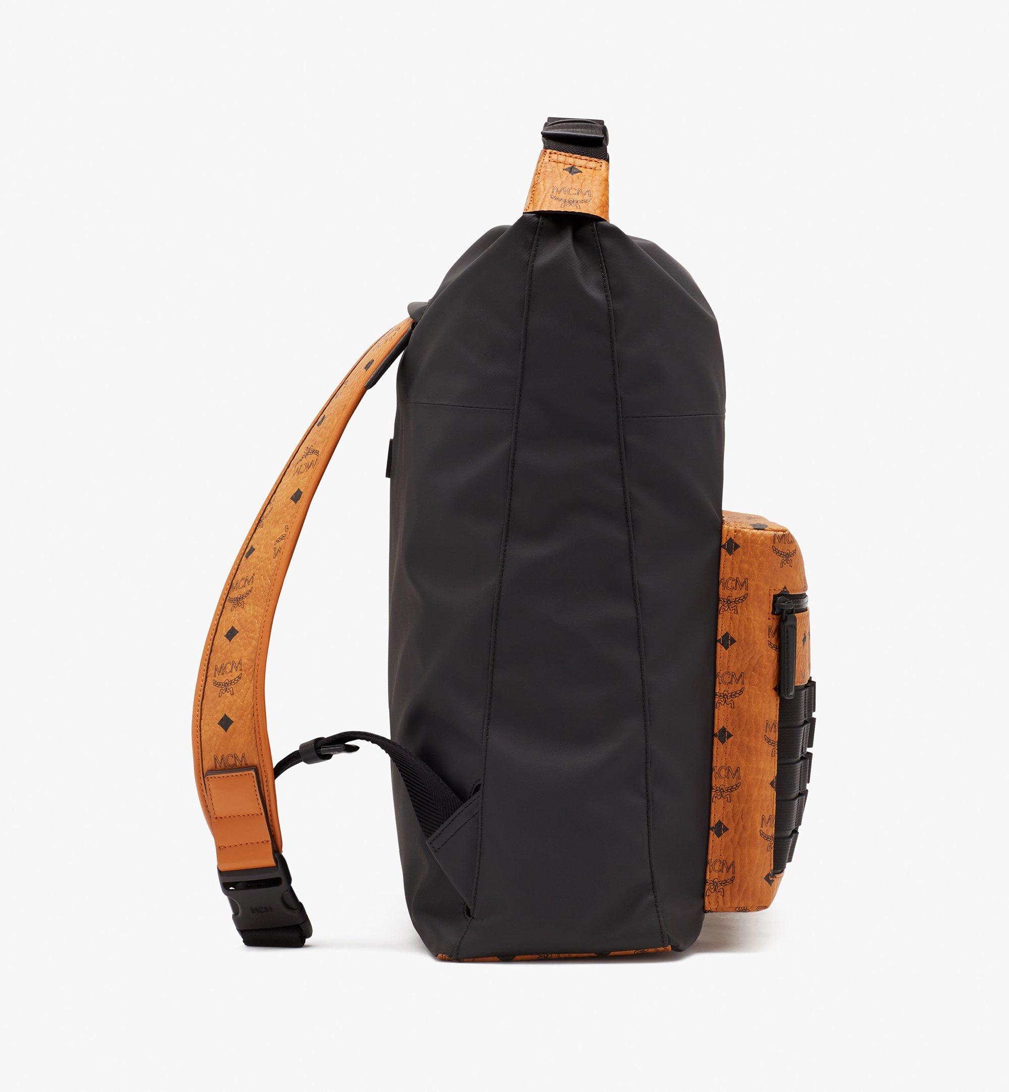 MCM 1976 Convertible Backpack in Nylon Black MMPASMV01BK001 Alternate View 2