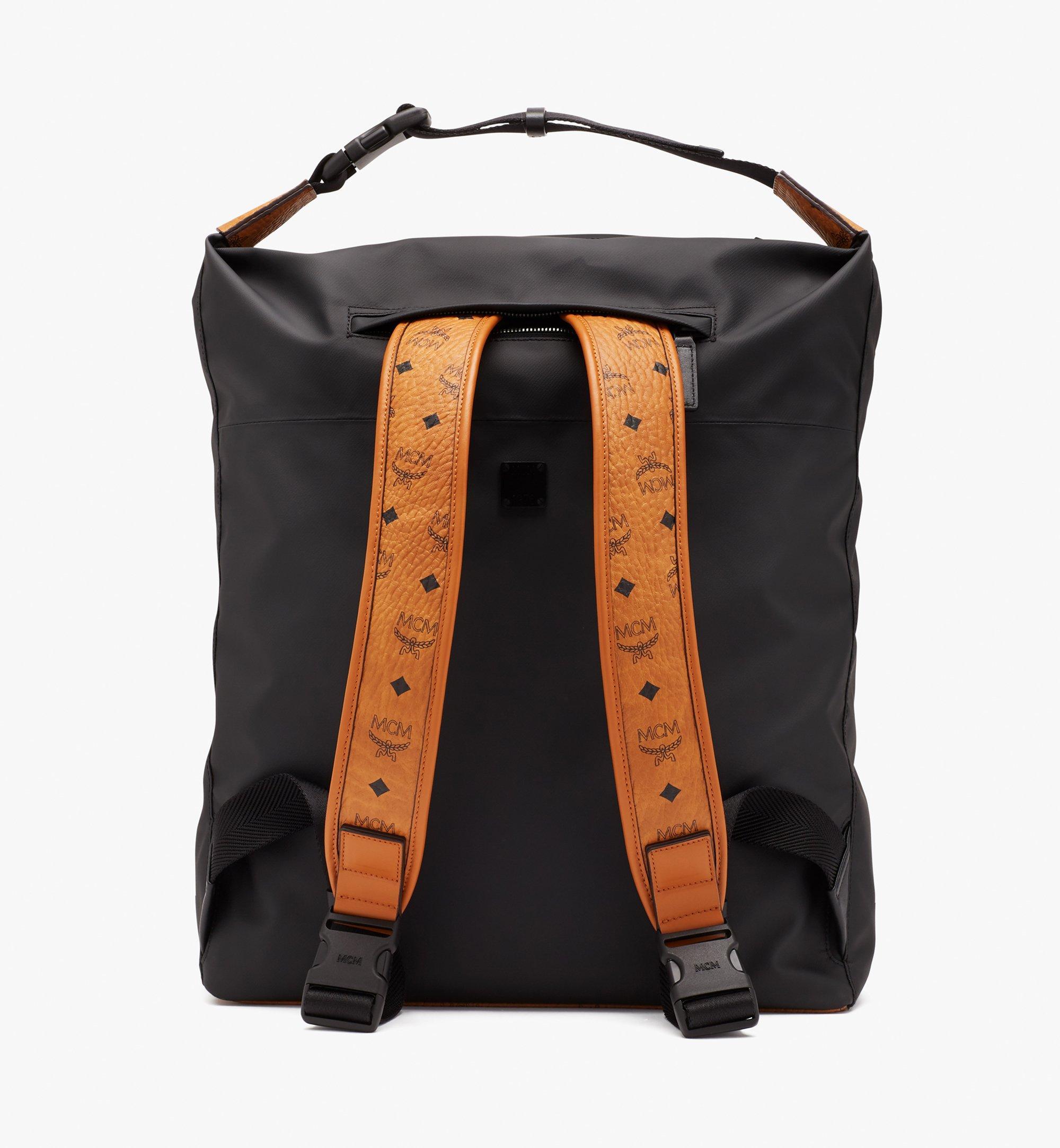 MCM 1976 Convertible Backpack in Nylon Black MMPASMV01BK001 Alternate View 3
