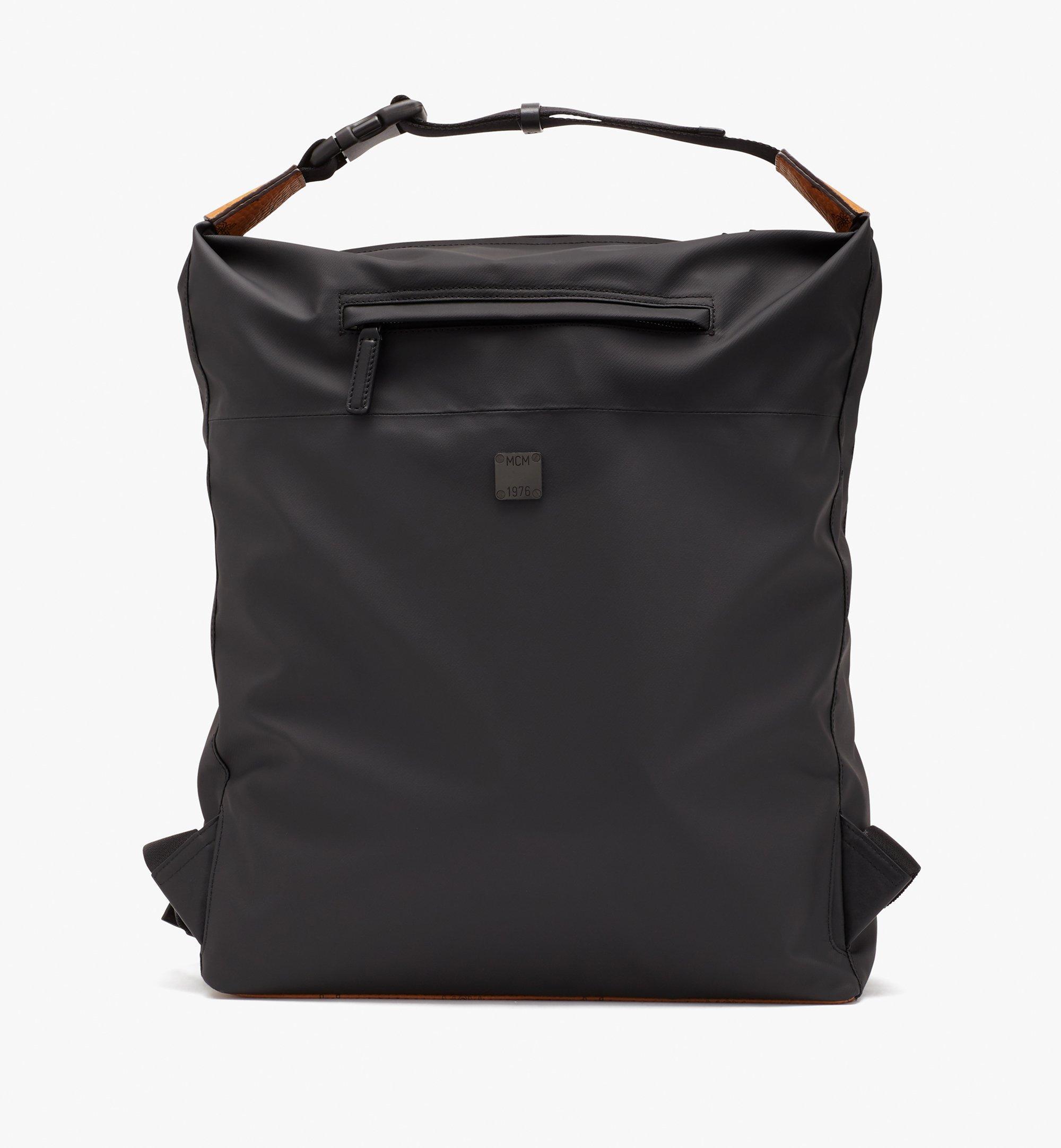 MCM 1976 Convertible Backpack in Nylon Black MMPASMV01BK001 Alternate View 4