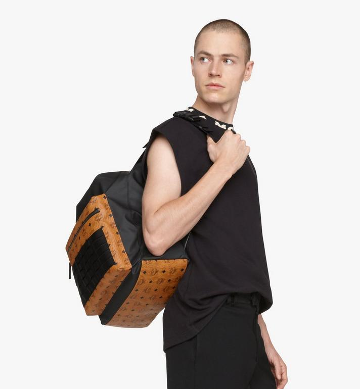 MCM 1976 Convertible Backpack in Nylon Black MMPASMV01BK001 Alternate View 7