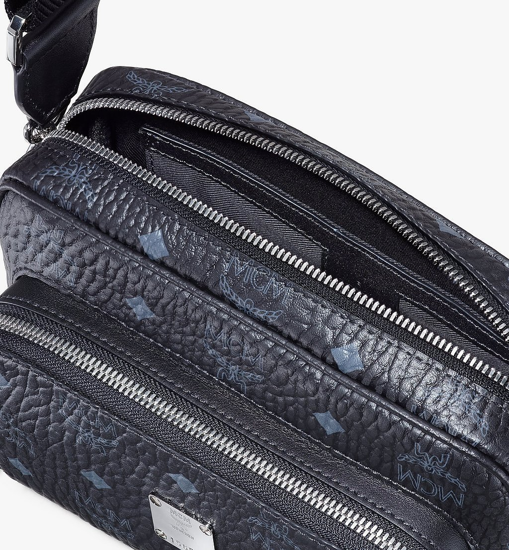 MCM Klassik Crossbody in Visetos Black MMRAAKC02BK001 Alternate View 3