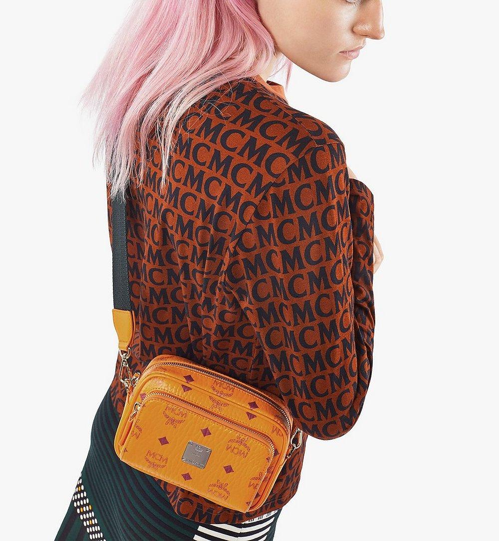 MCM Klassik Crossbody-Tasche in Visetos Orange MMRAAKC03O5001 Noch mehr sehen 4