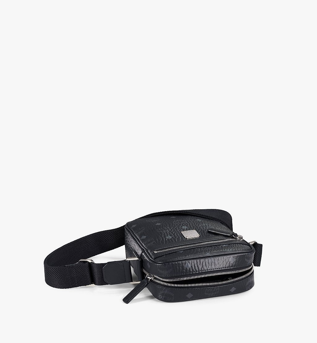 MCM N/S Klassik Crossbody in Visetos Black MMRAAKC04BK001 Alternate View 2