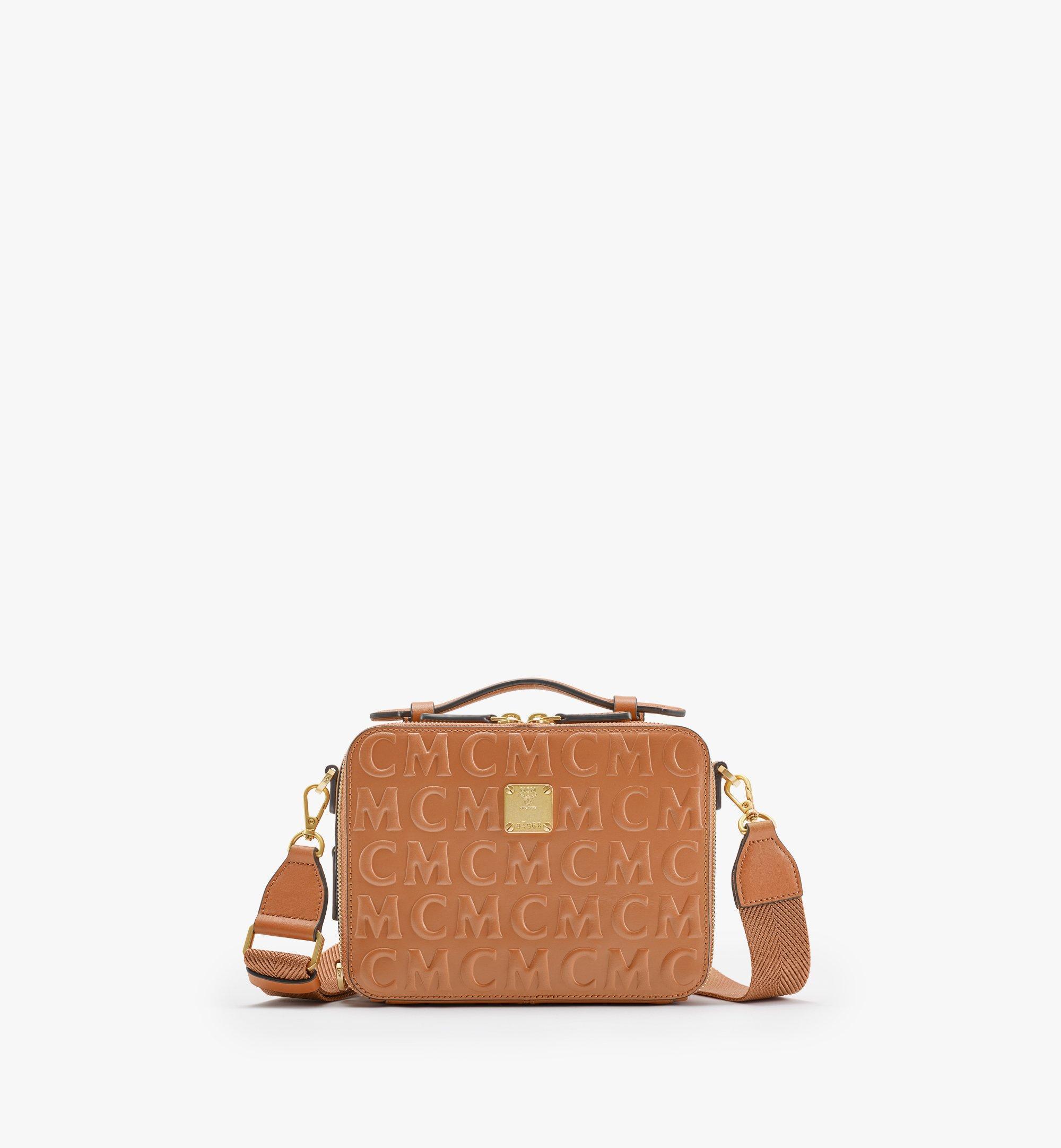 MCM Klassik Crossbody-Tasche im Querformat aus Leder mit MCM-Monogramm Cognac MMRAAKC14CO001 Noch mehr sehen 1