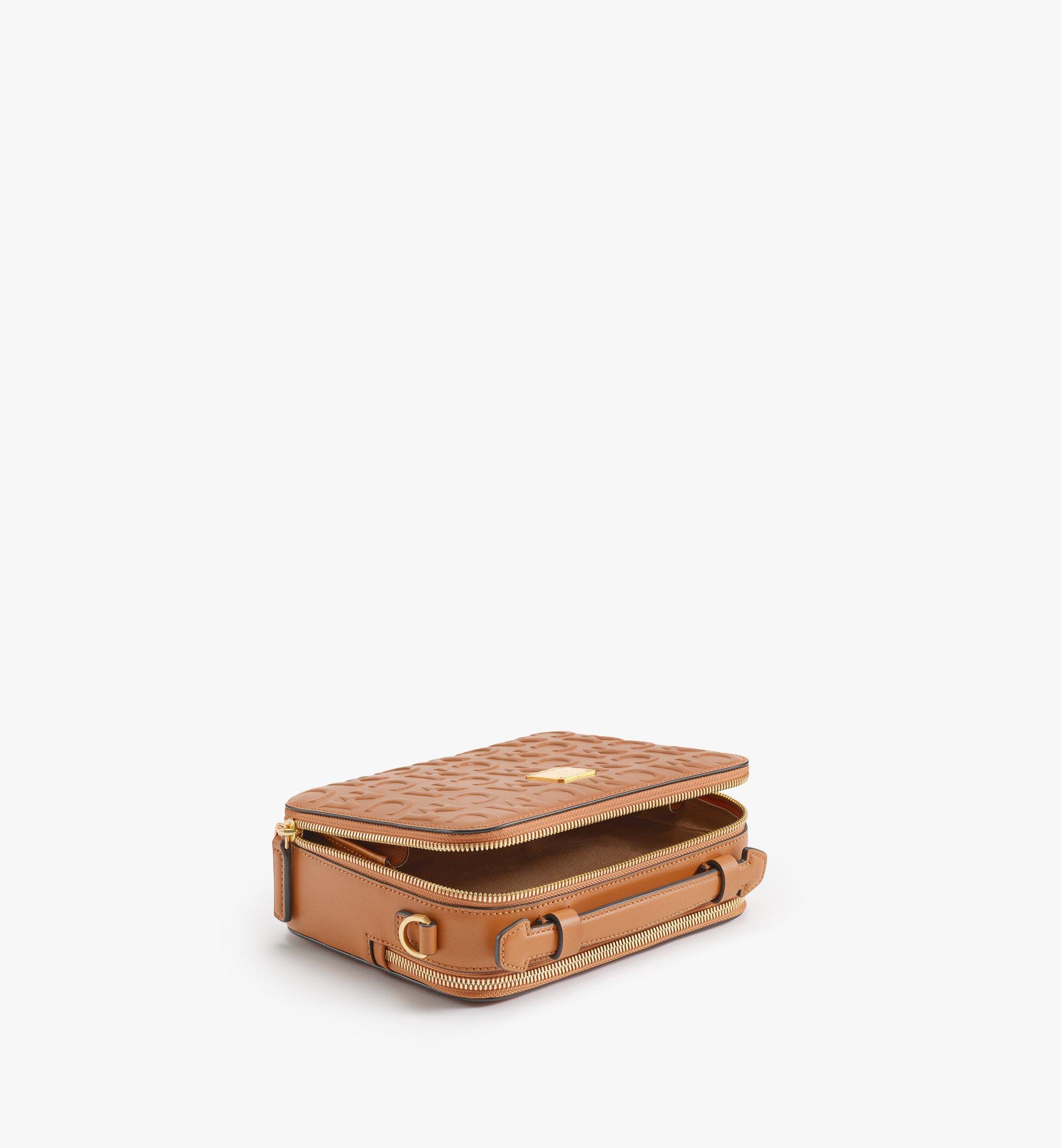 MCM Klassik Crossbody-Tasche im Querformat aus Leder mit MCM-Monogramm Cognac MMRAAKC14CO001 Noch mehr sehen 2
