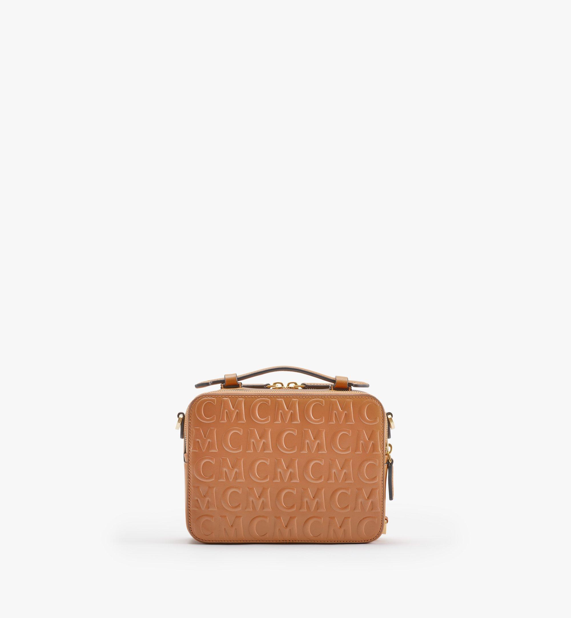MCM Klassik Crossbody-Tasche im Querformat aus Leder mit MCM-Monogramm Cognac MMRAAKC14CO001 Noch mehr sehen 3