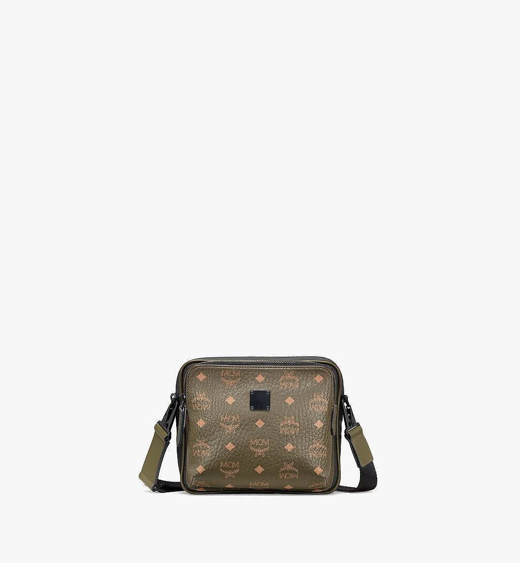 MCM Crossbody Utility Bag in Visetos Green MMRAAMV02JH001 Alternate View 1