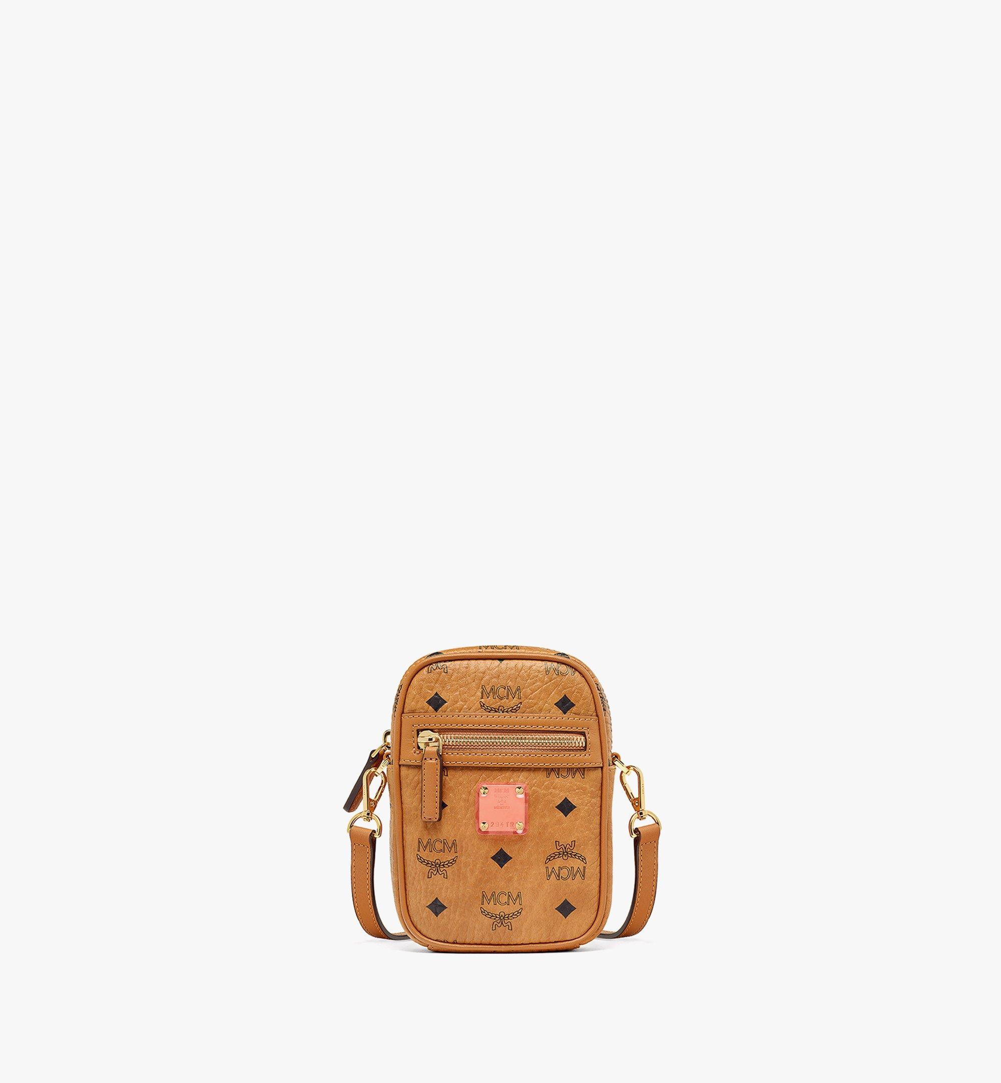 MCM Upcycling Project Crossbody in Visetos Cognac MMRAAUP01CO001 Alternate View 1