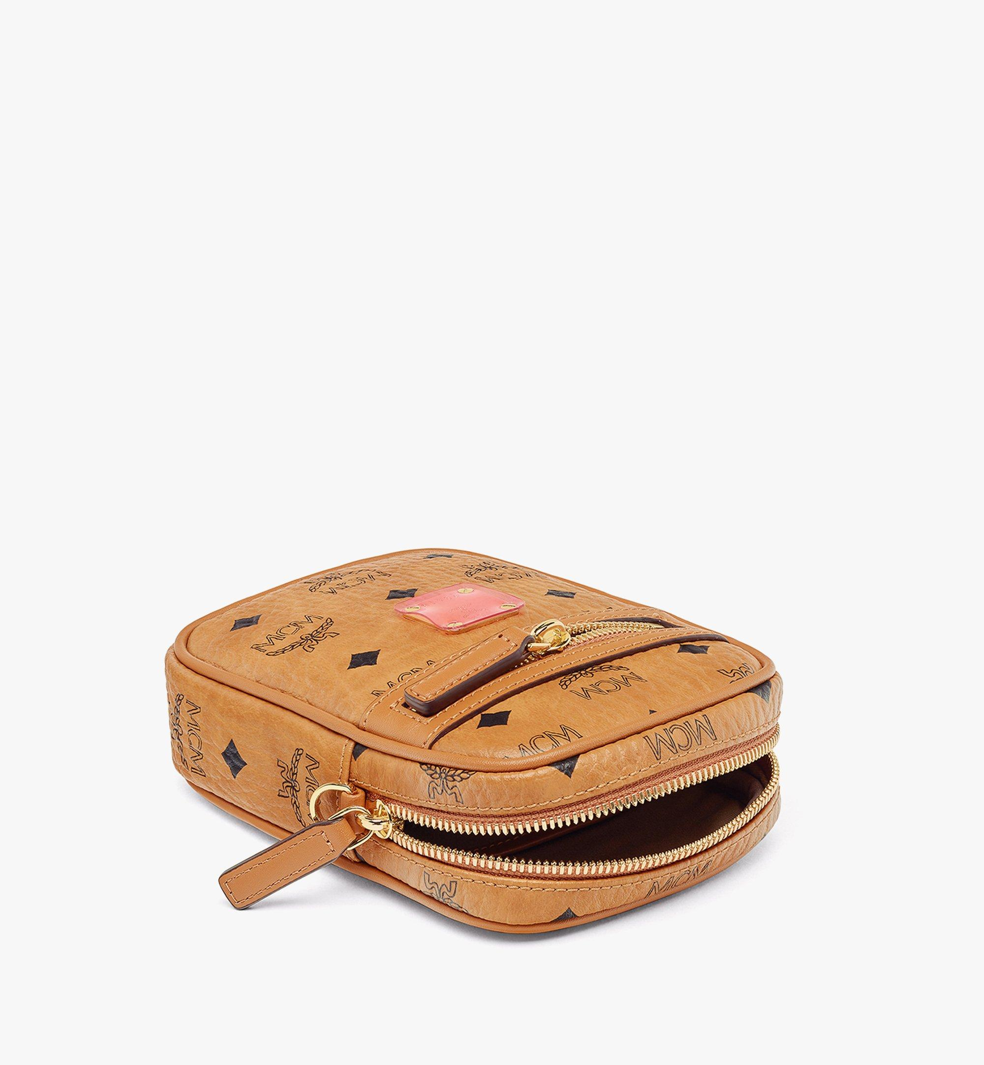 MCM Upcycling Project Crossbody in Visetos Cognac MMRAAUP01CO001 Alternate View 2