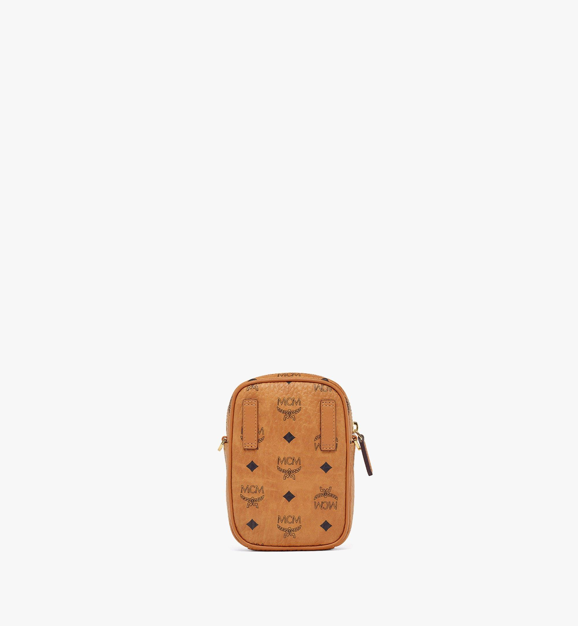 MCM Upcycling Project Crossbody in Visetos Cognac MMRAAUP01CO001 Alternate View 3