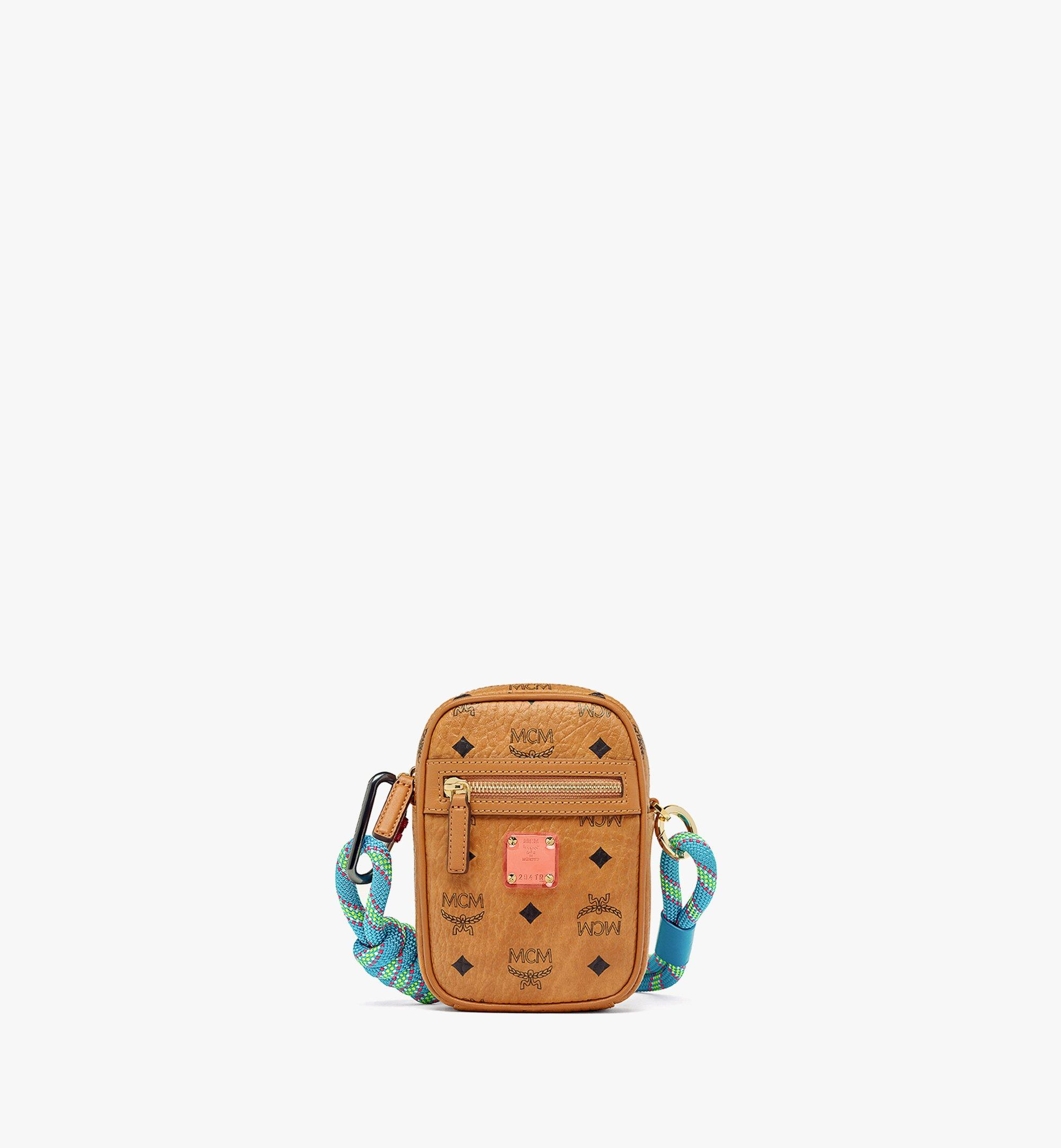 MCM Upcycling Project Crossbody in Visetos Cognac MMRAAUP01CO001 Alternate View 4