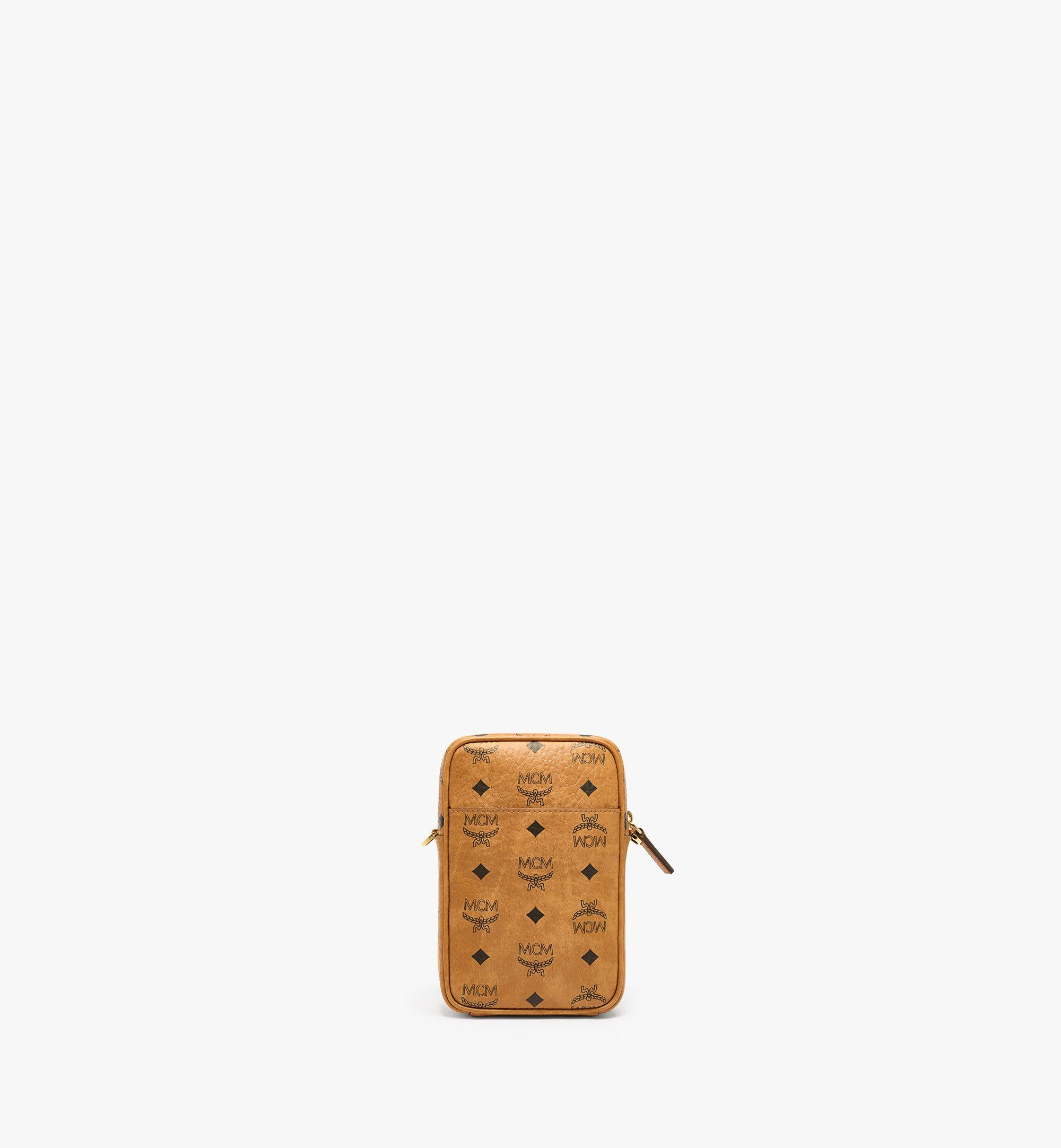 MCM N/S Crossbody Bag in Visetos Original Cognac MMRAAVI01CO001 Alternate View 3