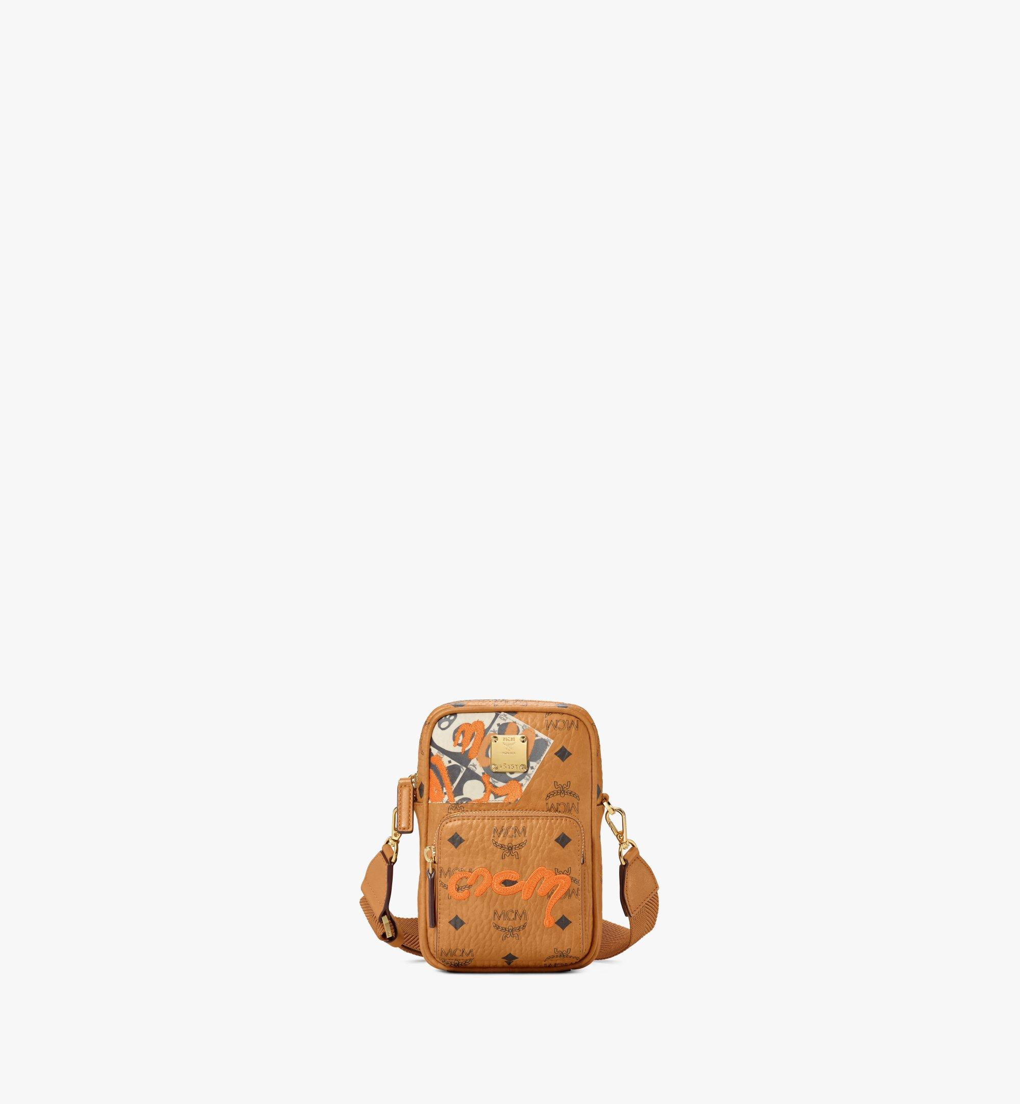 MCM Tech Crossbody in Berlin Bear Visetos Cognac MMRAAVI05CO001 Alternate View 1