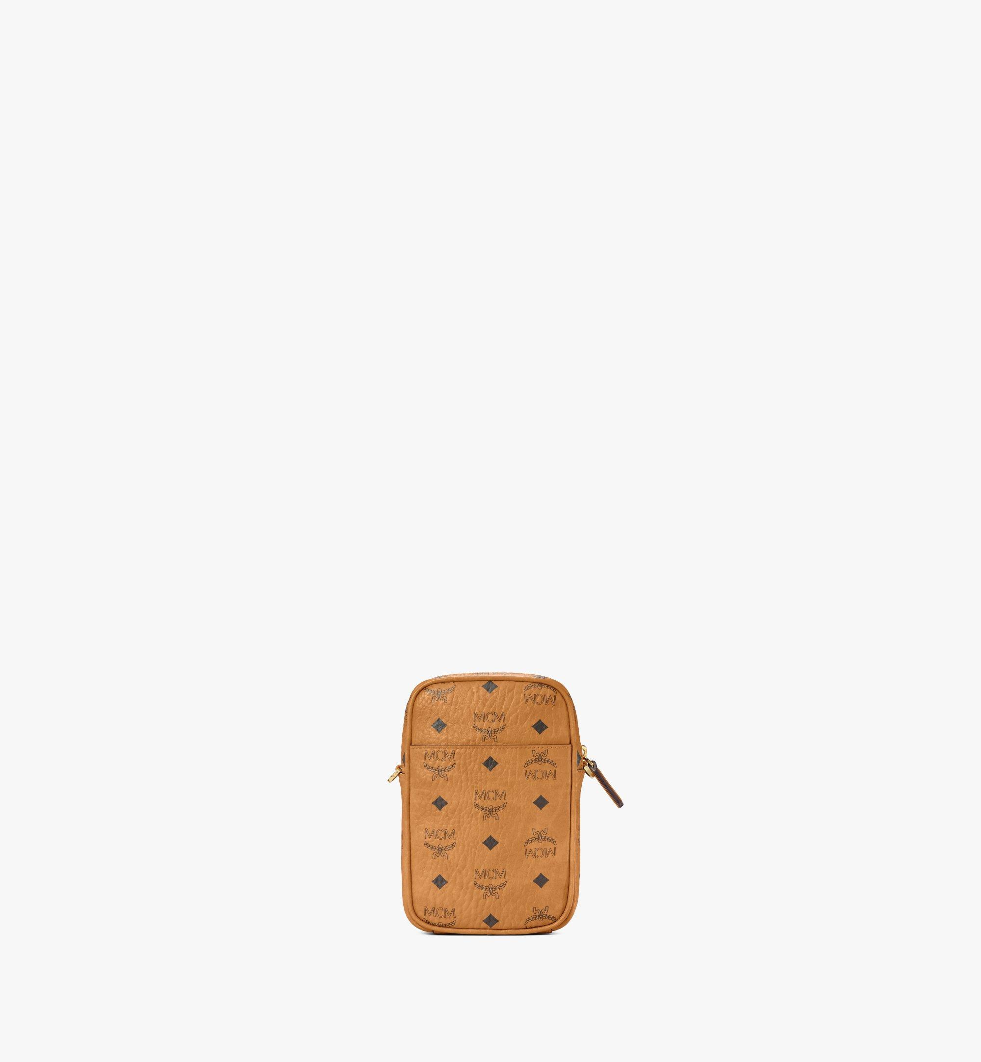 MCM Tech Crossbody in Berlin Bear Visetos Cognac MMRAAVI05CO001 Alternate View 4