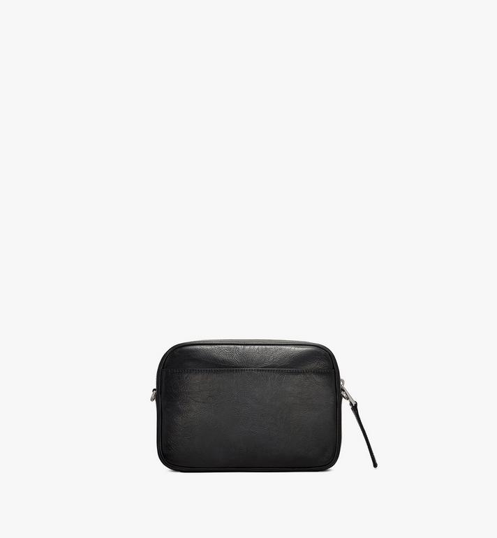 MCM Klassik Crossbody in Crushed Leather Black MMRASKC01BK001 Alternate View 3