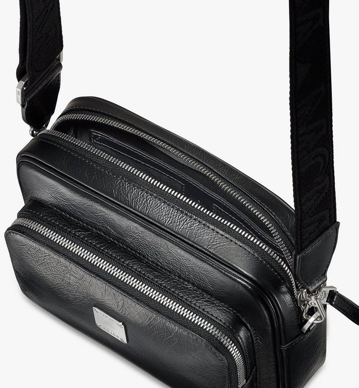 MCM Klassik Crossbody in Crushed Leather Black MMRASKC01BK001 Alternate View 4