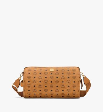 MCM Klassik Crossbody in Visetos Cognac MMRASKC02CO001 Alternate View 1