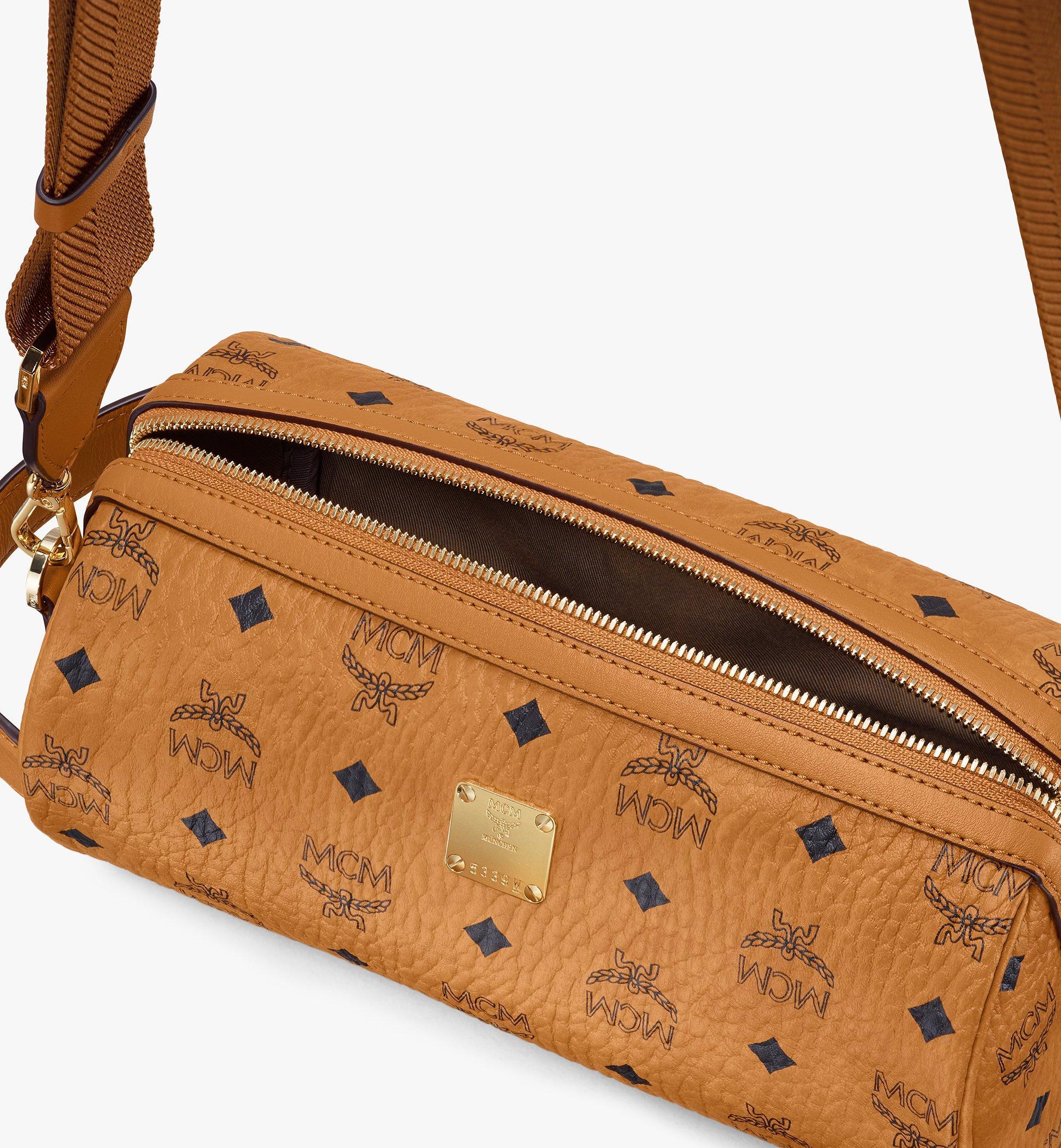 MCM Klassik Crossbody-Tasche in Visetos Cognac MMRASKC04CO001 Noch mehr sehen 3