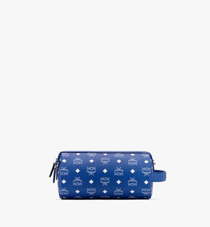 MCM Klassik Crossbody in Visetos Blue MMRASKC05H1001 Alternate View 3