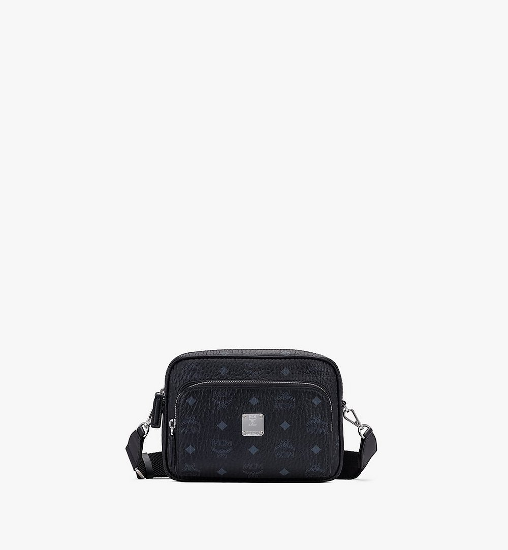 MCM Klassik Crossbody in Visetos Black MMRASKC06BK001 Alternate View 1