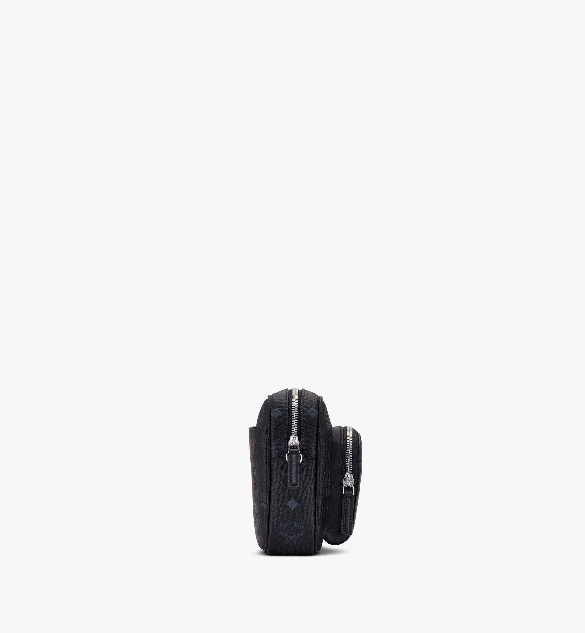 MCM Klassik Crossbody-Tasche in Visetos Black MMRASKC06BK001 Alternate View 2