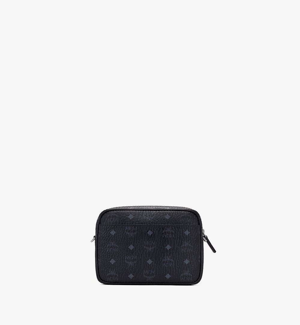 MCM Klassik Crossbody in Visetos Black MMRASKC06BK001 Alternate View 2