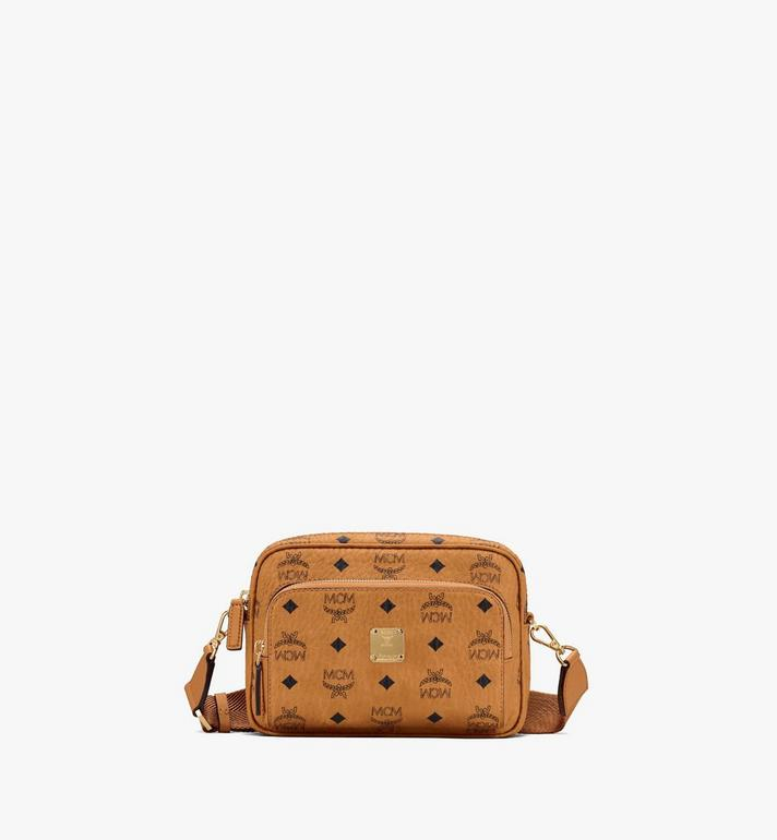 MCM Klassik Crossbody in Visetos Cognac MMRASKC06CO001 Alternate View 1