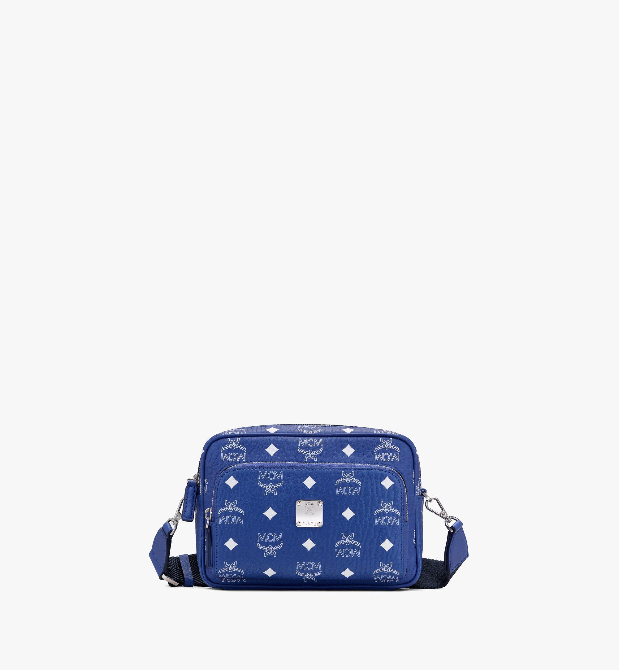 Small Klassik Crossbody Tasche in Visetos Blau | MCM® DE